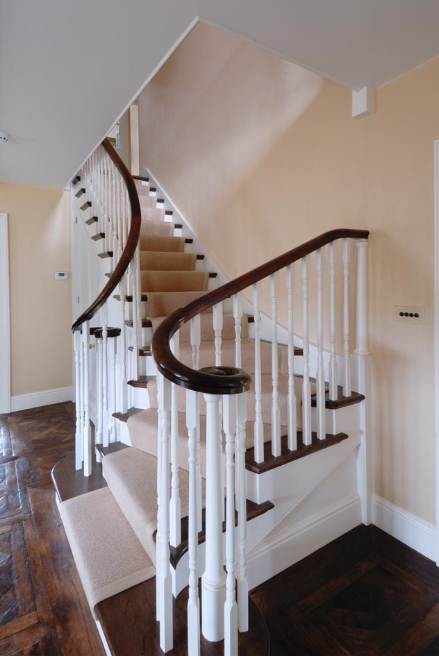 Staircase Designed In Conjunction With Adam Architecture With Hand Carved  Handrails ...