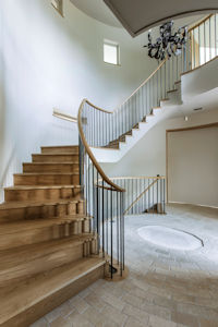 Double lift staircase designed by architects Ian Adam Smith