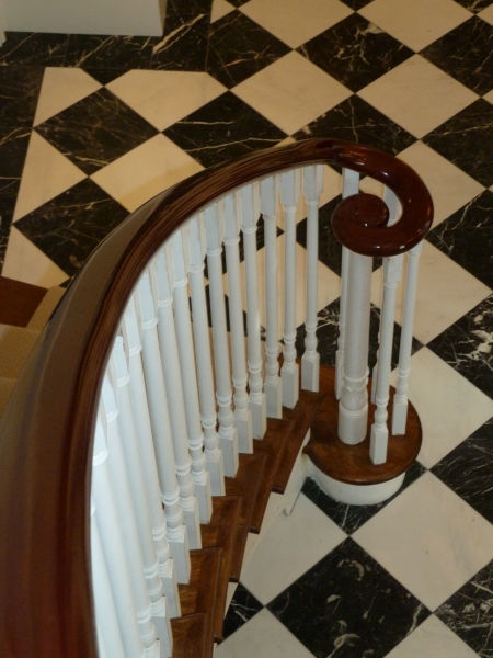 ... Helix Staircase Designed, Manufactured And Installed. The Main  Contractor Castle Eaton Construction